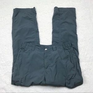 Columbia Gray 32x30 Nylon Omni Shade Pants